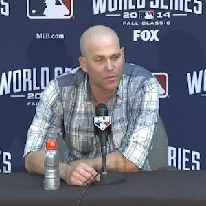 Raw Video: Giants Pitcher Tim Hudson On Starting Game 7 Of World Series