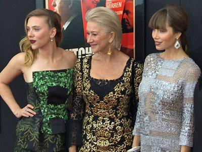 """Hitchcock"" stars hit the red carpet in NYC"
