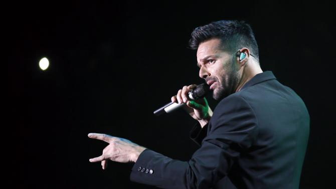 Singer Ricky Martin performs during the first-ever iHeartRadio Fiesta Latina at The Forum in Inglewood, California