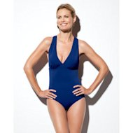 woman in spanx swimsuit