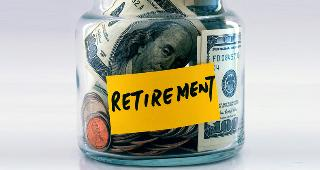 Retirement savings jar copyright JohnKwan/Shutterstock.com