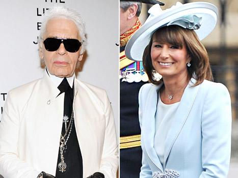 "Karl Lagerfeld: Carole Middleton Is ""Sexier Than Her Daughters"" Kate and Pippa"