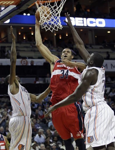 McGee's leads Wizards over Bobcats again 102-99