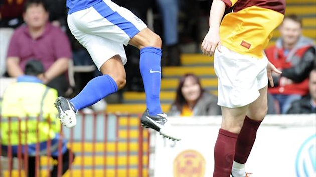 James McFadden played for the last 20 minutes in Motherwell's defeat to Dundee United on Tuesday night