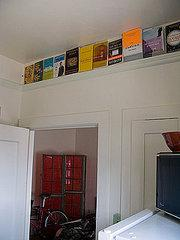 Use crown molding as a display shelf.    Source:  Flickr User Mike McCaffrey