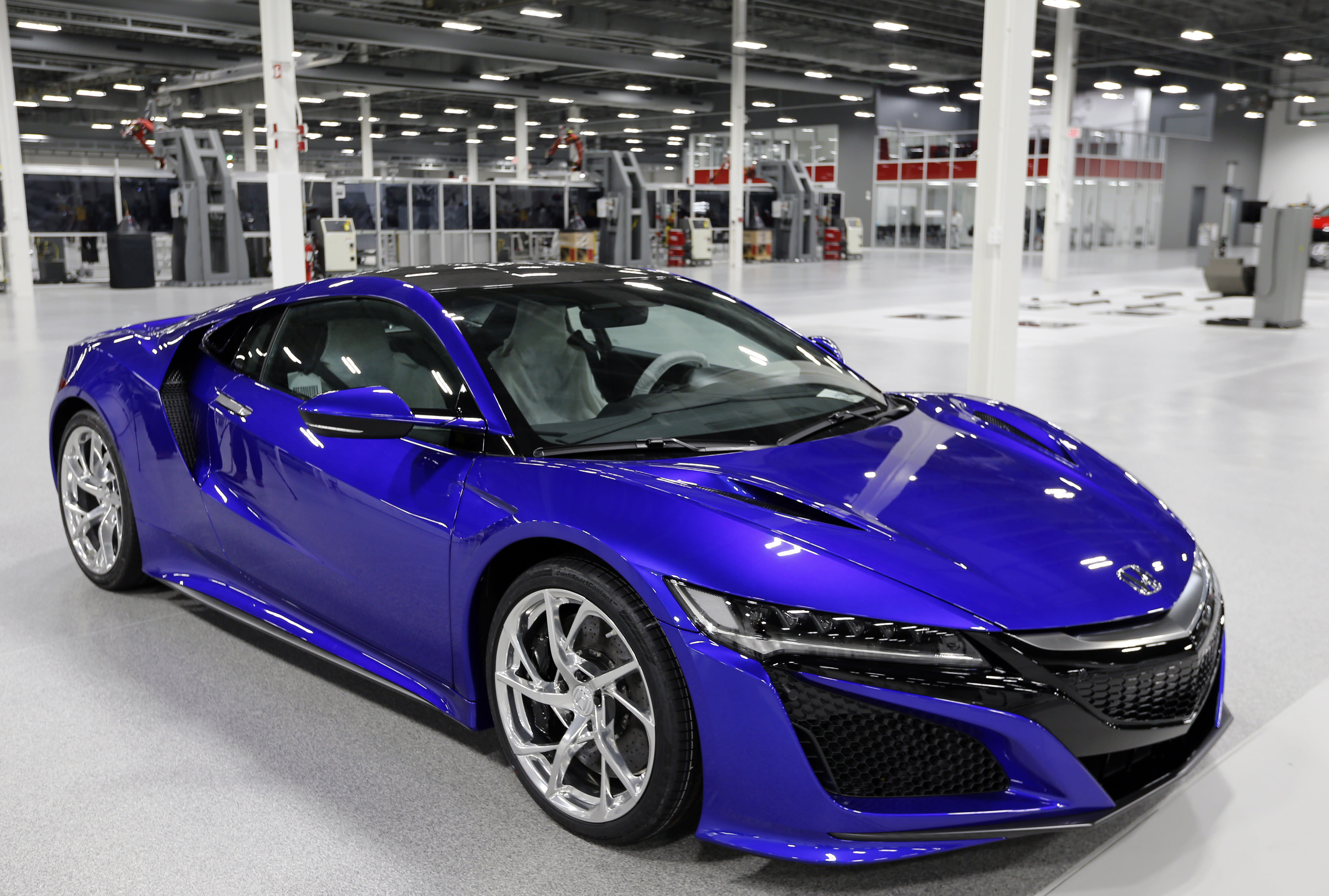 1st 2017 Acura NSX rolls off line in North American debut