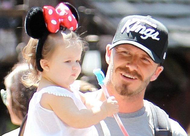 Celebrity photos: We seriously cooed over these snaps of Harper Beckham and David Beckham hanging out in Disneyland this week. Just when we thought Harper couldn't get any cuter, she goes and dons a p