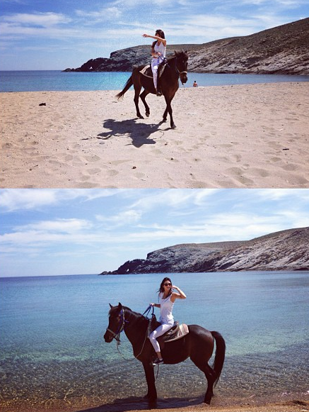 kendall jenner horseback riding greece vacation