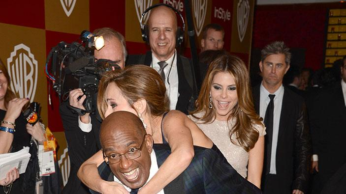 14th Annual Warner Bros. And InStyle Golden Globe Awards After Party - Arrivals: Al Roker, Giada De Laurentiis and Maria Menounos