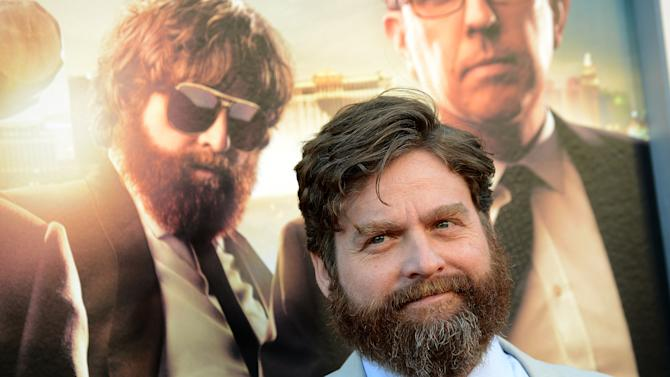 """Zach Galifianakis arrives at the LA Premiere of """"The Hangover: Part III"""" at the Westwood Village Theatre on Monday, May 20, 2013 in Los Angeles. (Photo by Jordan Strauss/Invision/AP)"""