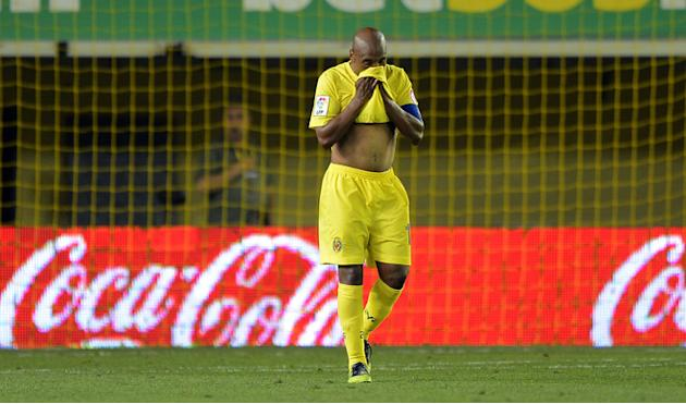 Villarreal's Midfielder Marcos Senna Reacts AFP/Getty Images