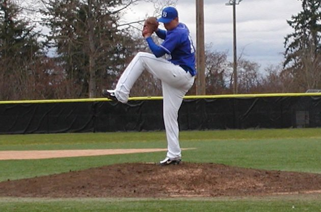 Bothell pitcher Travis Dohr, who hit a long-awaited homer against O'Dea &#x2014; BeRecruited