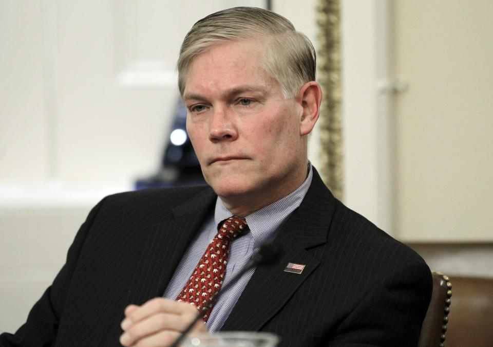 Rep. Pete Sessions, R-Texas, attends the House Rules Committee meeting regarding floor debate on legislation that would repeal the health care overhaul bill on Capitol Hill in Washington, Thursday, Jan. 6, 2011. (AP Photo/Charles Dharapak)