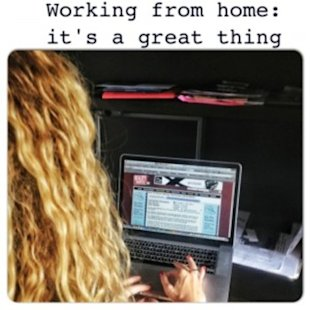 Working from home: it's a great thing!