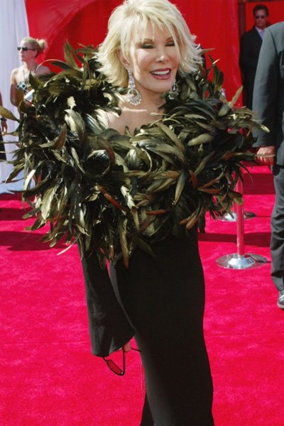 Joan Rivers' dress at the 2003 Emmy Awards could have used a little plastic surgery. It looked like it exploded after being left in a microwave for too long. (Photo by Kevin Winter/Getty Images)
