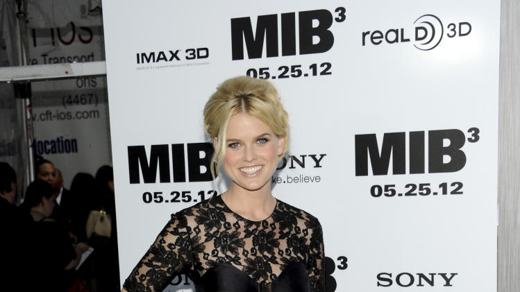 "Actress Alice Eve arrives at the premiere of ""Men in Black 3"" at the Ziegfeld Theater on Wednesday May 23, 2012 in New York. (Photo by Evan Agostini/Invision/AP)"