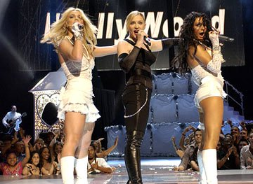 Britney Spears, Madonna and Christina Aguilera perform