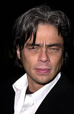 Benicio Del Toro at the Los Angeles premiere of Guy Ritchie 's Snatch (1/18/2001) Photo by Steve Granitz/WireImage.com