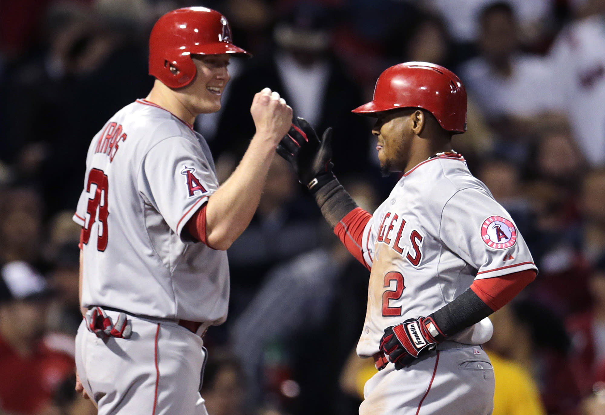 Angels pound Red Sox 12-5