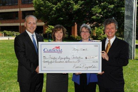 Cardinal Bank Community Fund Awards Grant to Fairfax Symphony Orchestra
