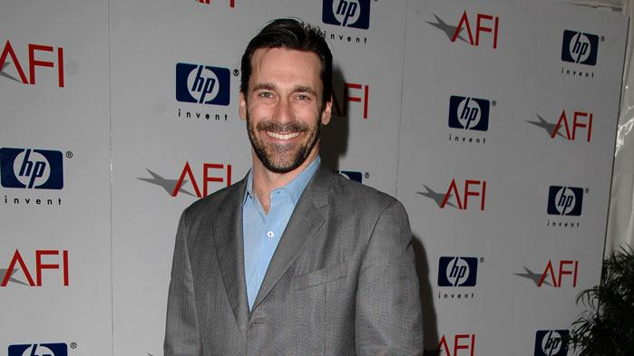 Jon Hamm arrives at the 2008 AFI Luncheon held at the Four Seasons Hotel on January 11, 2008 in Los Angeles, California.