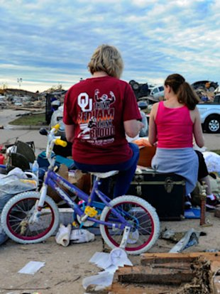 The aftermath of the Oklahoma tornado.