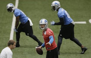 QB Matthew Stafford has good options to pick from when moving the Lions downfield. (AP)