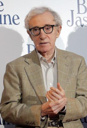 """FILE - This Aug. 27, 2013 file photo shows director and actor Woody Allen at the French premiere of """"Blue Jasmine,"""" in Paris. Allen was nominated for an Academy Award for best original screenplay on Thursday, Jan. 16, 2014 for the film. The 86th Academy Awards will be held on March 2. (AP Photo/Christophe Ena, File)"""