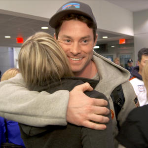 Bronze Medalist Steve Langton Returns Home from Sochi