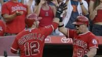 Angels stage stunning rally to prevent the Rangers from clinching the AL West