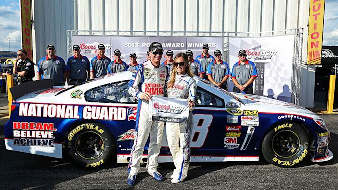 Dale Earnhardt Jr. takes his first pole of 2013