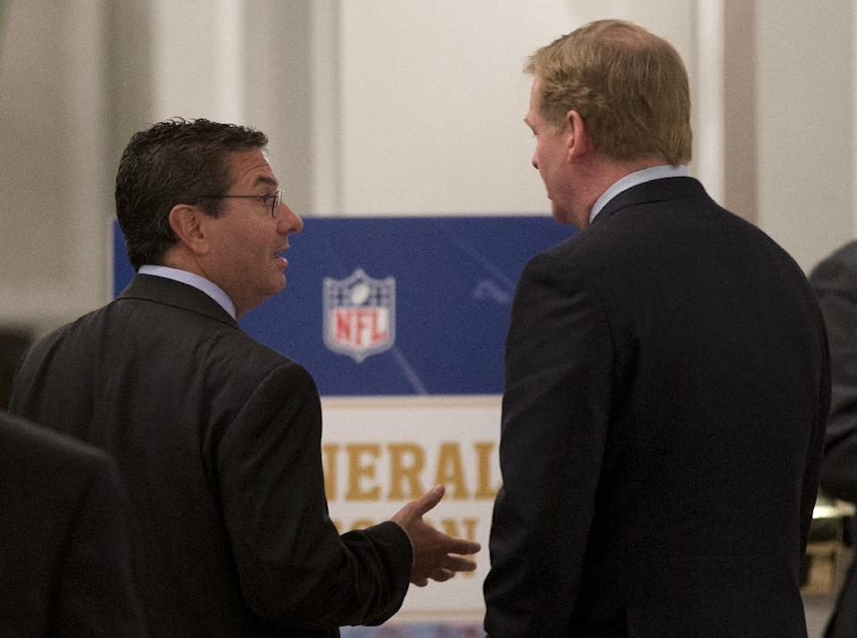 Redskins name top topic at Goodell news conference
