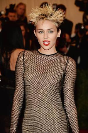Miley Cyrus attends the Costume Institute Gala for the 'PUNK: Chaos to Couture' exhibition at the Metropolitan Museum of Art on May 6, 2013 in New York City -- Getty Images