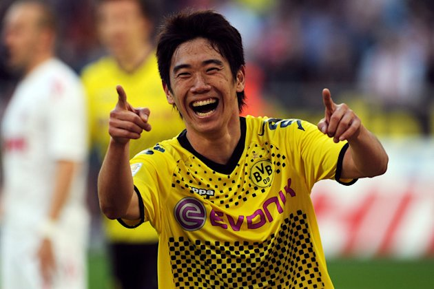 Dortmund's Japanese Forward Shinji Kagawa Celebrating AFP/Getty Images