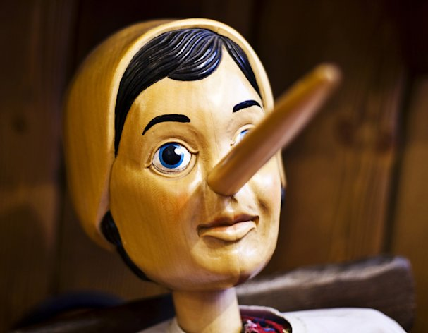 Like the story of Pinocchio, real noses give away when we tell lies (Image: Rex)