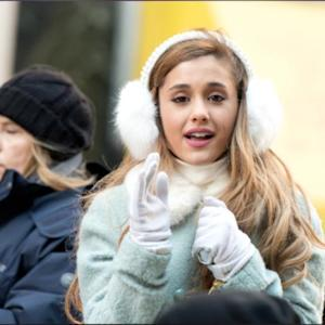 Ariana Grande Gets Into The Christmas Spirit