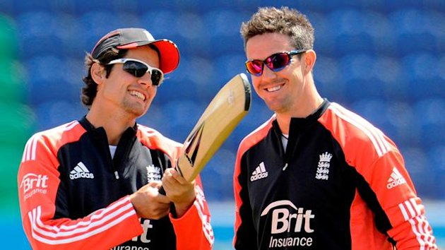England's Alastair Cook and Kevin Pietersen (Reuters)