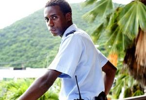 "Gary Carr in ""Death in Paradise"" 