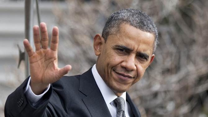 FILE - In this Feb. 13, 2013, file photo, President Barack Obama waves as he leaves the White House in Washington. Obama and congressional Republicans made no progress last week in heading off $85 billion in budget-wide cuts that automatically start taking effect March 1.  (AP Photo/Manuel Balce Ceneta, File)