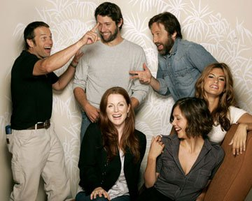 James LeGros, director Bart Freundlich, David Duchovny, Julianne Moore, Maggie Gyllenhaal and Eva Mendes 2005 Toronto Film Festival - 'Trust the Man' Portraits