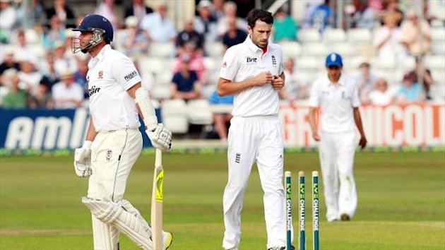 England overcame some injury scares to end the second day on top