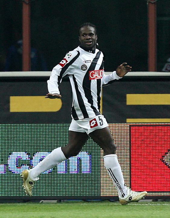 Udinese's Midfielder Christian Obodo Celebrates AFP/Getty Images