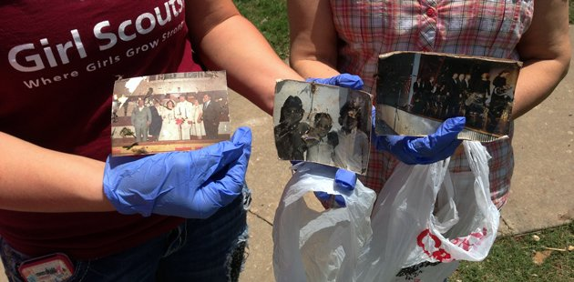 National Disaster Photo Rescue partners with Oklahoma volunteers to rescue and return photos lost in the Moore tornado