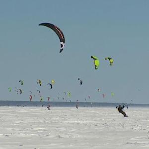 Minn. snowkiters dream of an endless winter