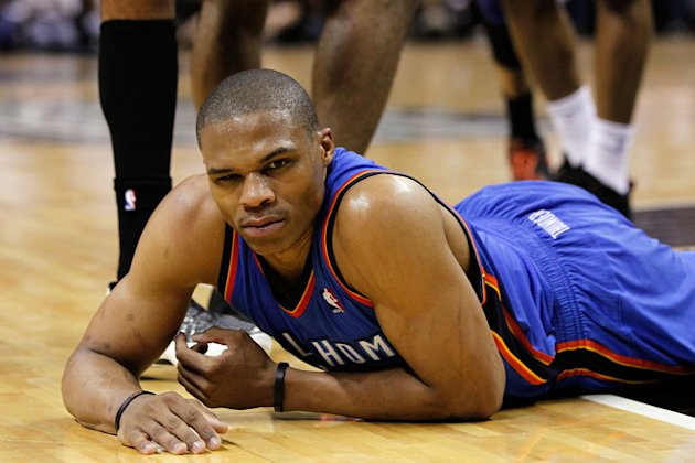   Russell Westbrook #0 Of The Oklahoma City Thunder Reacts  Getty Images