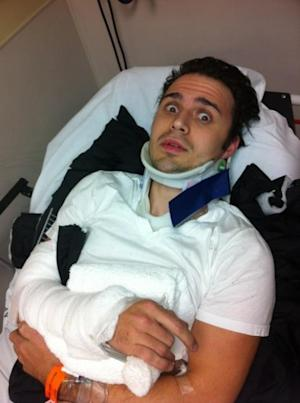 Kris Allen seen in the hospital on January 1, 2013 -- Twitter