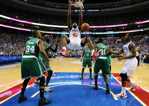 Elton Brand #42 Of The Philadelphia 76ers Dunks Getty Images