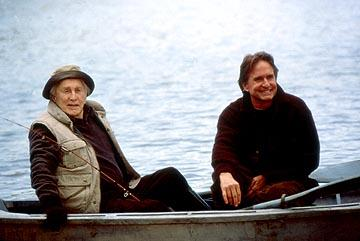 Kirk Douglas and Michael Douglas in MGM's It Runs In The Family