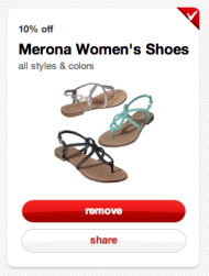 Target Cartwheel: Social Shopping for Millennials image sandals