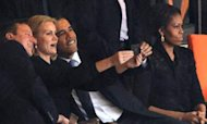 Cameron And Obama's Selfie At Mandela Service